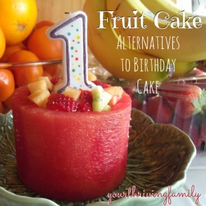 Watermelon Fruit Cake Alternatives to Birthday Cake